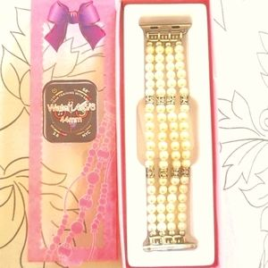 IWatch wristband Faux pearl and diamond
